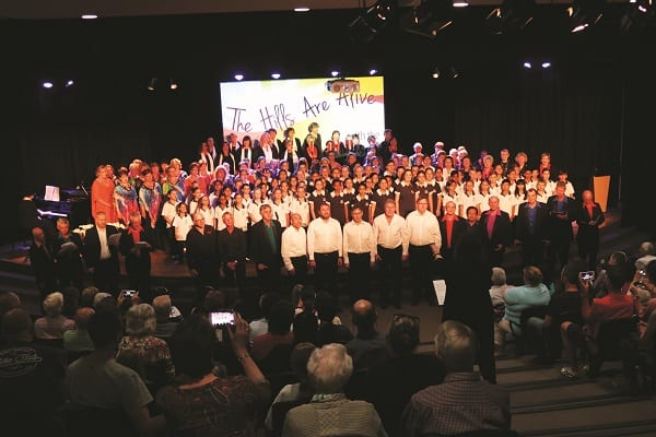 The Hills Are Alive massed choir, 2016
