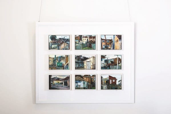 Last year's Hornsby Art Prize winner, Asquith Postcards by Lyndall Beck.