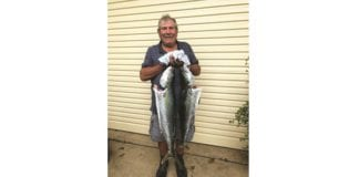 Giuseppe Militello with his 2 Kingfish.