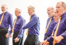 Some of our guys singing at the NSW Seniors Festival & Expo – Darling Harbour